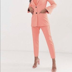 High Waisted Peach Trouser